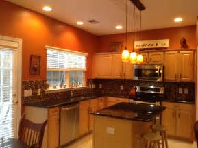 Small Kitchen Color Ideas Pictures by Burnt Orange Kitchen With New Lighting Ideas For The