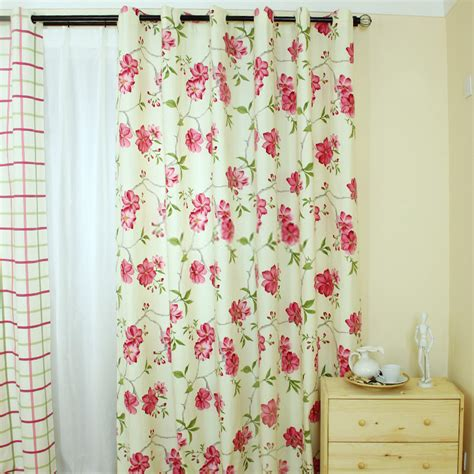cotton flowers country curtains sale