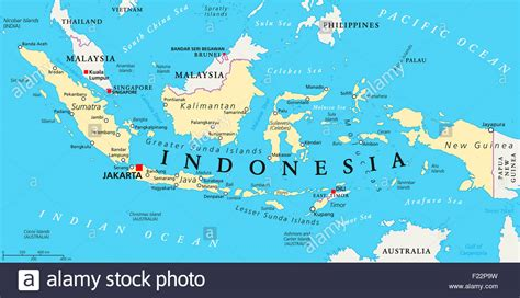 indonesia political map  capital jakarta national