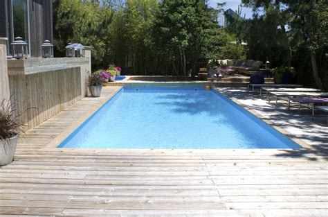 wood pool decks captivating wooden pool deck with modern outdoor rectangular pool as neutral backyard garden