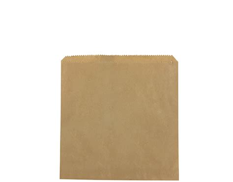 Flat Brown Paper Bags (size #2 Square)