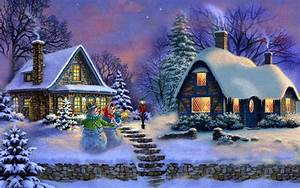 Christmas Painting Wallpaper and Background