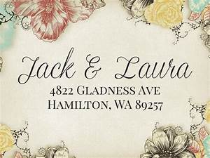fancy text custom wedding stamp wedding invitation return With fancy writing wedding invitations