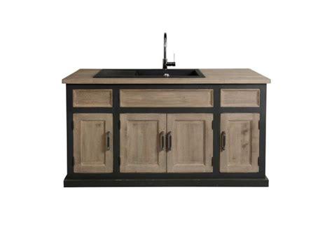 meuble evier cuisine meuble de cuisine avec évier contemporain chic 155x90x65