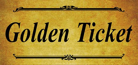 Blank Golden Ticket Template by 6 Golden Ticket Templates Word Excel Templates