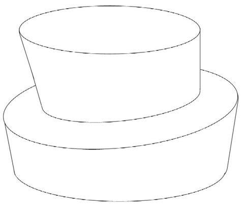 gallery  tier cake outline