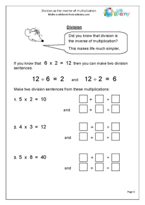 bureau inversé multiplicative inverse worksheet geersc