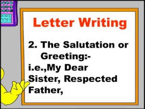 letter writing rules  letter writing english grammar