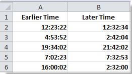 calculate time difference times