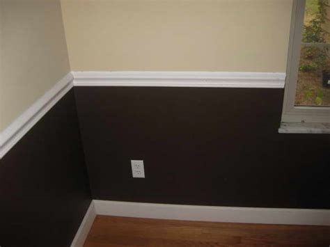 Two Tone Walls With Chair Rail by Bloombety Chair Rail Installation With Wall Color Brown