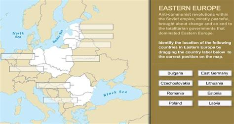 high school history activity cold war european map