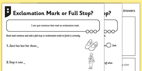 exclamation or stop differentiated activity