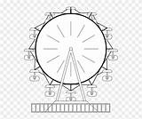 Ferris Wheel Coloring Line Colouring Pinpng Clip sketch template