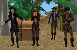 Mod The Sims - Scurvy Currs - 4 Pirate Outfits for Males