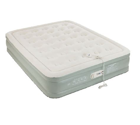 raised air mattress aerobed premier raised air bed with built in