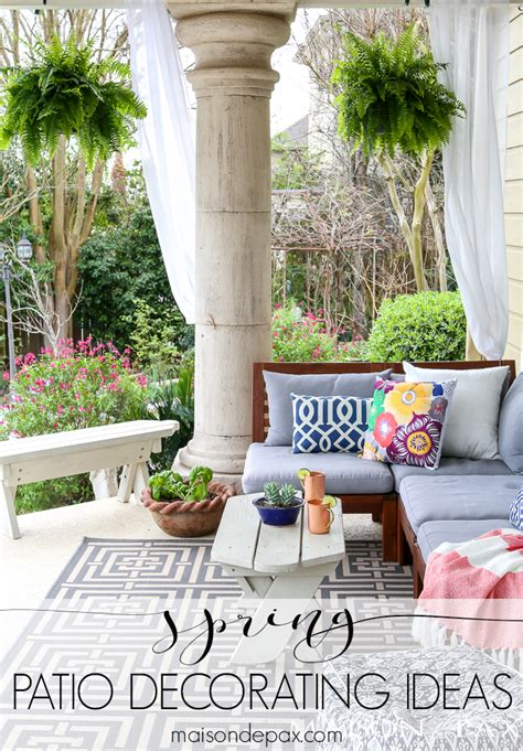 Spring Patio Decorating Ideas  Maison De Pax. Space Between Patio And House. Lattice Patio Cover Designs. Patio Furniture Sale Atlanta Ga. Patio And Garden Doors. Small Patio Furniture Sectional. How To Build A Patio Using Flagstone. Installing Paver Patio Steps. Deck Masters Patio Covers