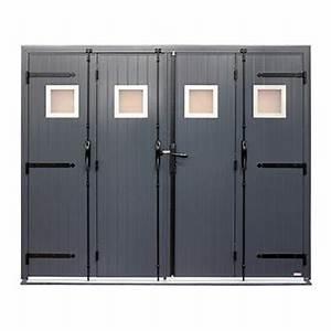 Porte De Garage Pliante À La Française 4 Vantaux : porte garage 4 vantaux en aluminium icare par sothoferm ~ Nature-et-papiers.com Idées de Décoration