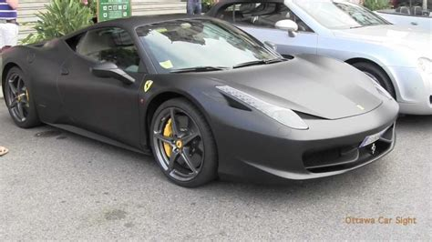 I have to say the front of the 458 speciale reminds me of the gallardo's front. Matte black Ferrari 599 & 458 in Monaco - YouTube