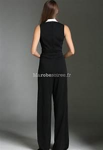 Combinaison Femme Noir Et Blanc : combinaison de soir e femme smoking noir ~ Melissatoandfro.com Idées de Décoration
