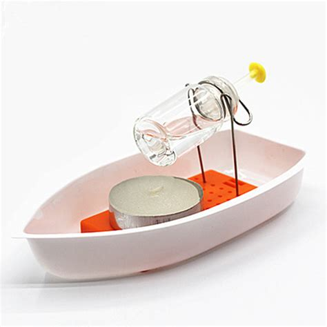 Toy Boat Powered By Candle by Amazing Heat Steam Candle Powered Speedboat Scientific
