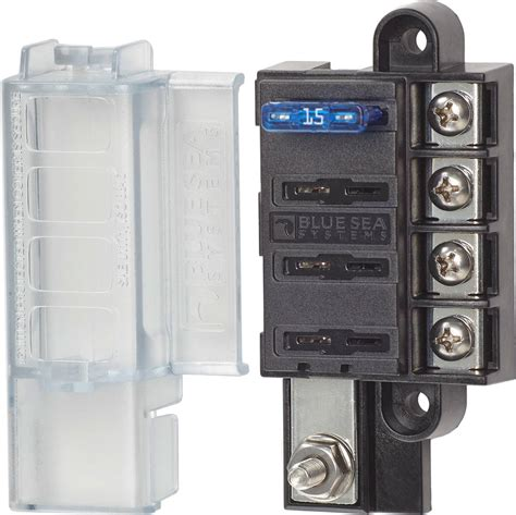 Blue Sea Fuse Box by St Blade Compact Fuse Blocks 4 Circuits Blue Sea Systems
