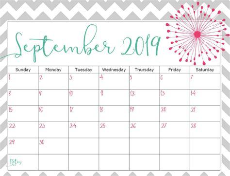 printable september  calendar  notes magic