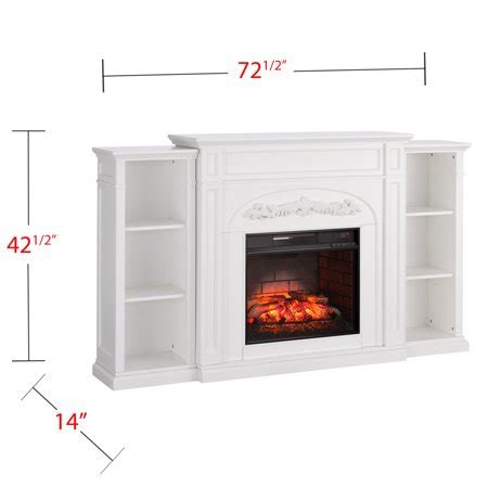 White Electric Fireplace With Bookcase by Crayfire Bookcase Infrared Electric Fireplace White