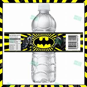 batman water bottle labels great for fans of all ages With batman water bottle labels