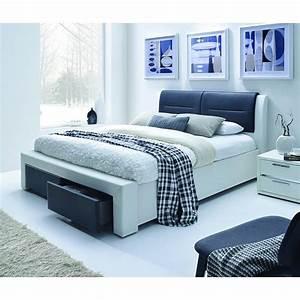 Lit 2 Places But : chello lit 2 places 140x190 cm noir et blanc ~ Teatrodelosmanantiales.com Idées de Décoration