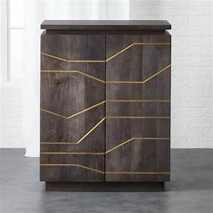 wooden brass inlay cabinet With best brand of paint for kitchen cabinets with mango wood wall art
