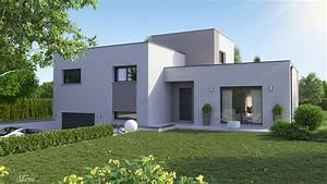 Numéro De Maison Design : maison design demi tage toit plat clara logivelay ~ Dailycaller-alerts.com Idées de Décoration