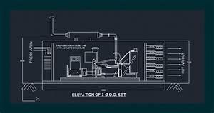 Diesel Generator In Autocad