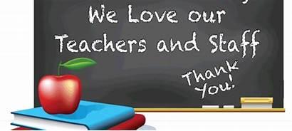 Appreciation Teacher Week Teachers Staff Middle Thank