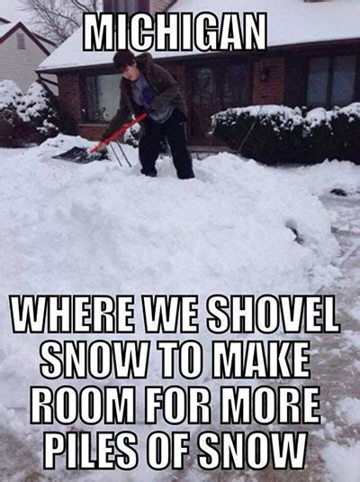 Snow Memes Funny - the best memes about winter in michigan