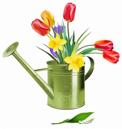 Watering Spring Flowers Clipart Clip Wikiclipart
