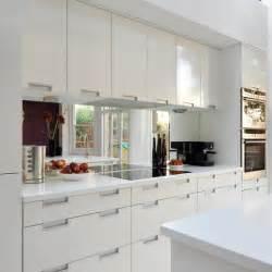 splashback ideas white kitchen real homes modern white kitchen mirror splashback splashback and kitchens