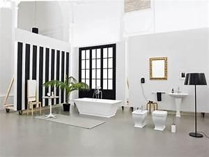 salle bain art deco With salle de bain design avec article décoration de table