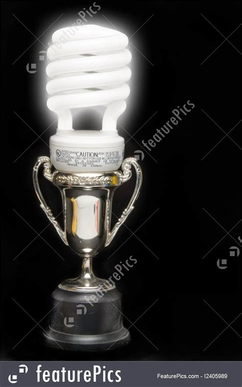 electrical objects light bulb trophy stock picture