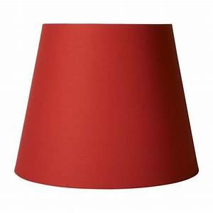 Abat Jour Rouge : tipp abat jour en coton rouge diam tre 34cm hauteur 27cm habitat ~ Teatrodelosmanantiales.com Idées de Décoration