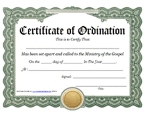 ordination certificate template ministry of the gospel templates free printable certificate of ordination