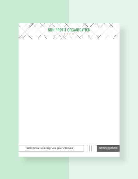 profit organization letterhead template