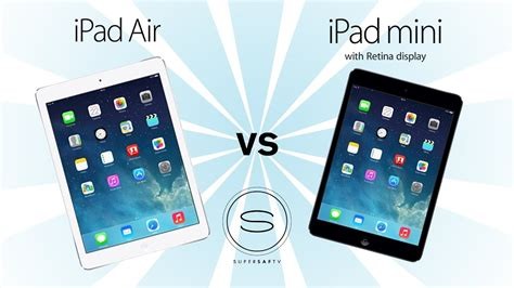 Ipad Air Vs Ipad Mini 2 (retina)