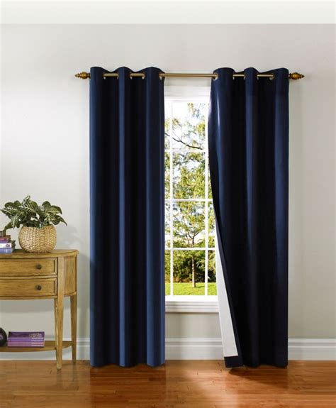 Thermalogic Curtains Home Depot by Thermalogic Duck Grommet Panel Navy 40 Inch X 84 Inch