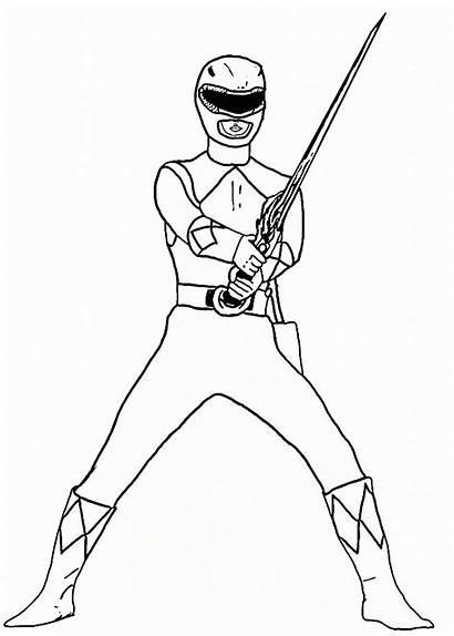 Rangers Coloring Ranger Power Printable Zum Pokemon