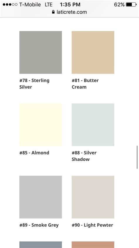 laticrete silver shadow  smoke grey  sterling silver