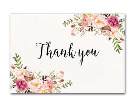 Ivory Thank You Card Floral Thank You Card Wedding Thank You Business Card App Nfc Apple Wallet Ping American Psycho Cars Modern Templates Ai Of Artist Visa Free File Template