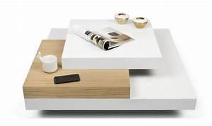 Table Basse Moderne : table basse carr e blanche design scandinave 3 plateaux ~ Melissatoandfro.com Idées de Décoration