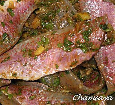 cuisiner le bar entier recette de rougets à la marocaine