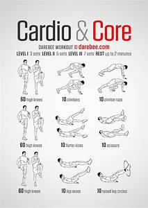 Cardio & Core - Darebee Workout | Exercises | Pinterest ...