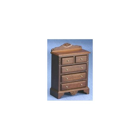 Dollhouse Bedroom Furniture by Miniature Walnut Chest Of Drawers Dollhouse Bedroom